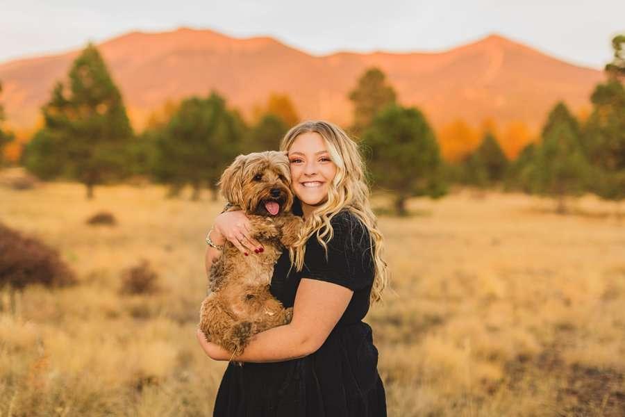 Layne and Sophie: Northern Arizona Fall Photography dog snuggles