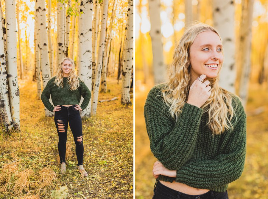 Layne and Sophie: Autumn Portrait Sessions Flagstaff smiling