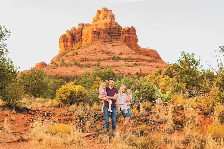 Maclean Family: Family Photographers Sedona AZ happy little family