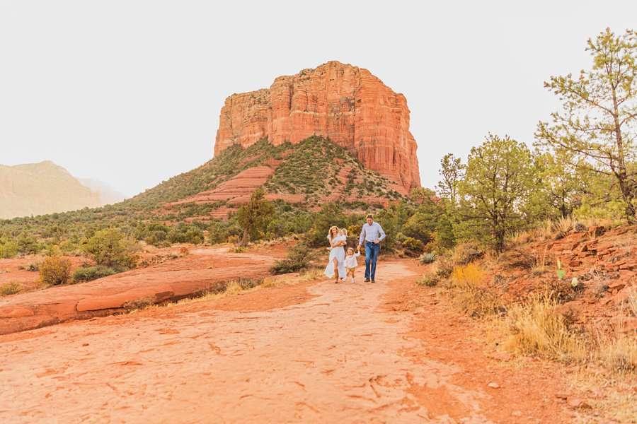 Maclean Family: Destination Photography Arizona Portraits wide landscape shots