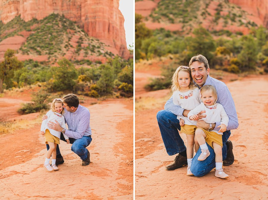 Maclean Family: Destination Photography Arizona Portraits dad and daughters
