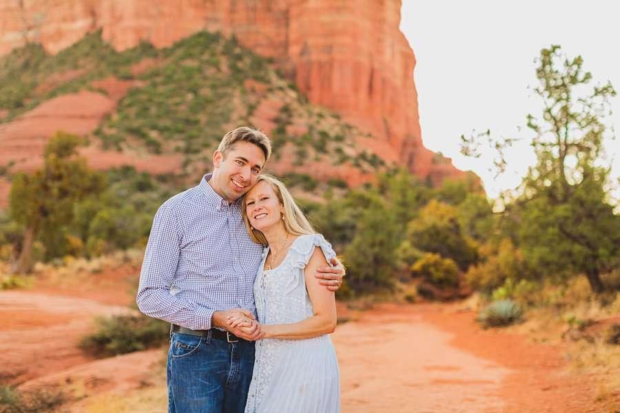 Maclean Family: Family Photographers Sedona AZ mom and dad