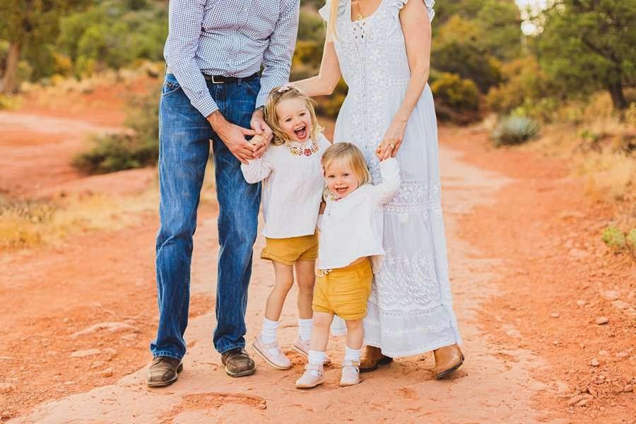 Maclean Family: Family Photographers Sedona AZ happy kids