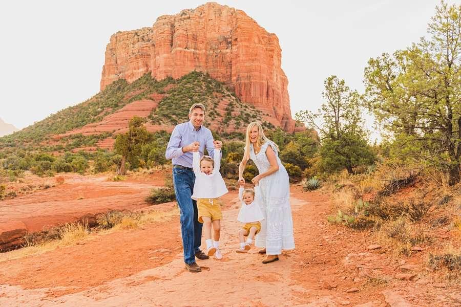 Maclean Family: Family Photographers Sedona AZ playful poses for families