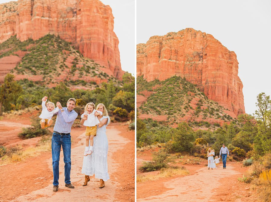 Maclean Family: Family Photographers Sedona AZ happy family