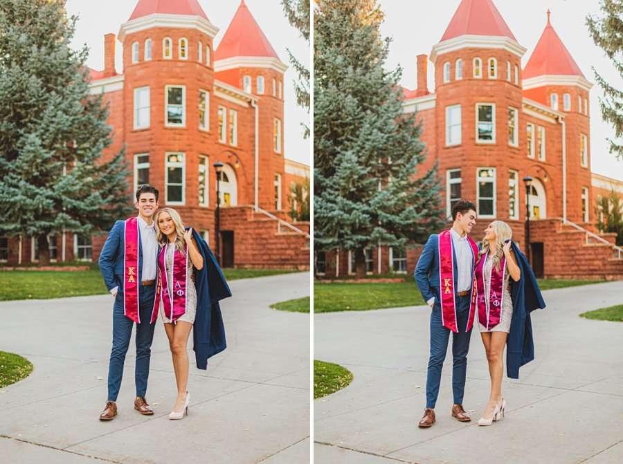 Micaela and Justin: Northern Arizona University Session couple at NAU