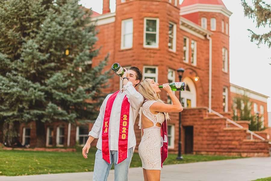 Micaela and Justin: NAU Senior Portraits cheers to 2020!