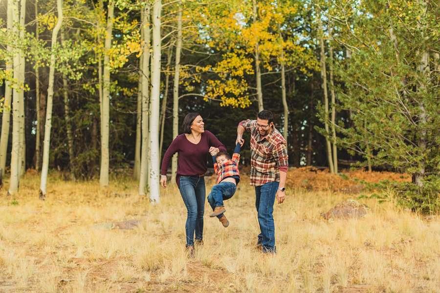 Terbush Family: Aspen Corner Portrait Session family having fun together