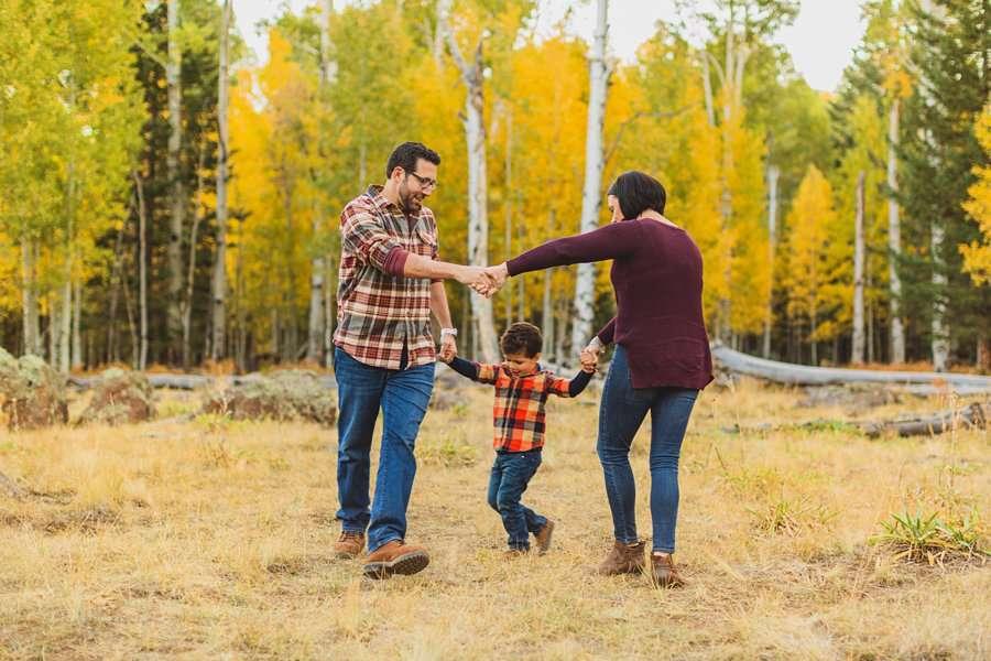 Terbush Family: Flagstaff Autumn Photography fun poses for families