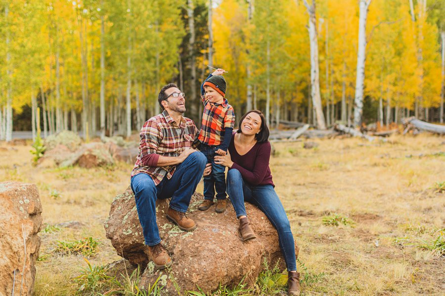 Terbush Family: Flagstaff Autumn Photography enjoying company together
