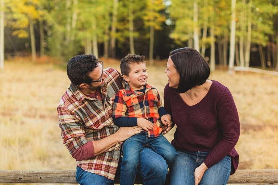 Terbush Family: Aspen Corner Portrait Session smiles and giggles