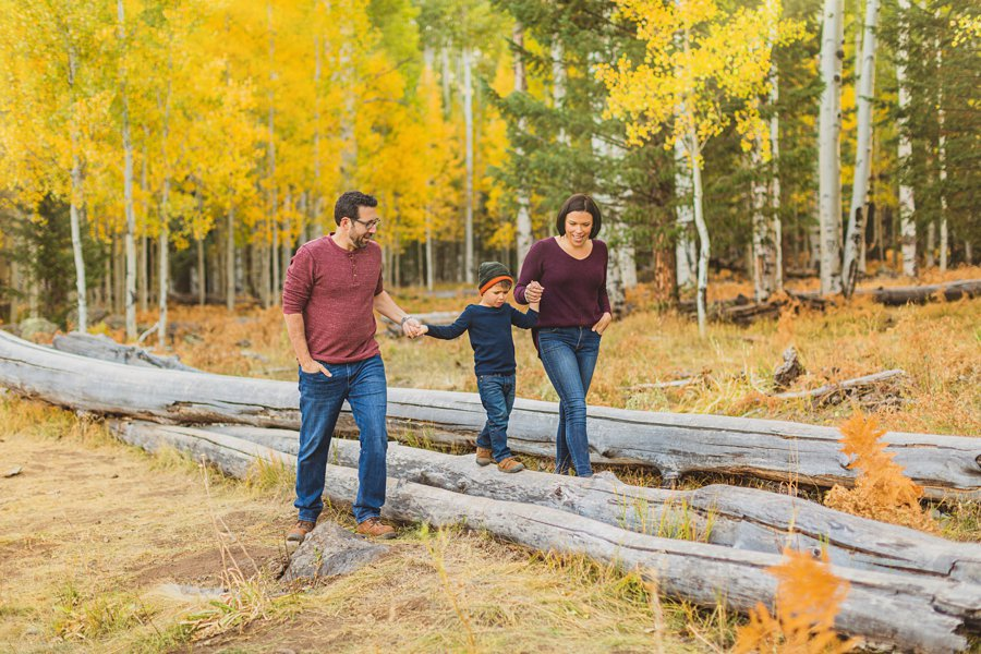 Terbush Family: Flagstaff Autumn Photography family having fun