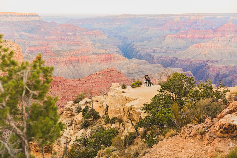 Yesenia and Justin: Grand Canyon Engagement Photographers landscape