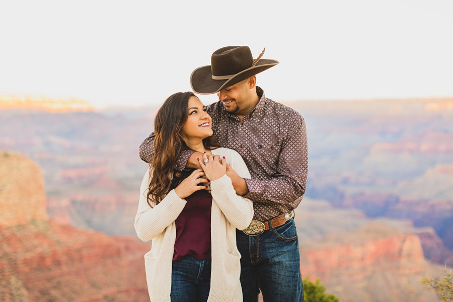 Yesenia and Justin: Northern Arizona Portrait Photography couple snuggles