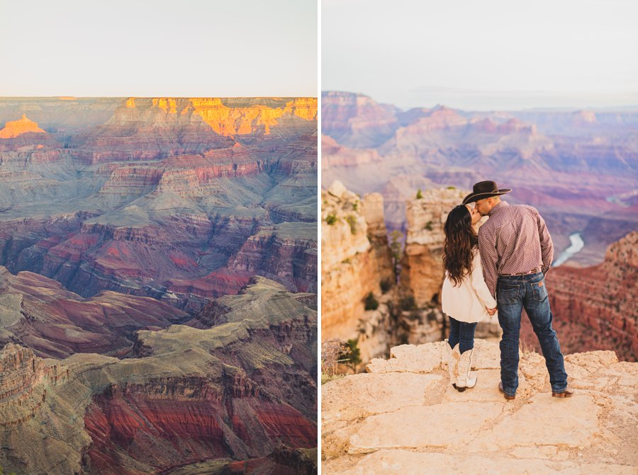 Yesenia and Justin: Grand Canyon Engagement Photographers best poses