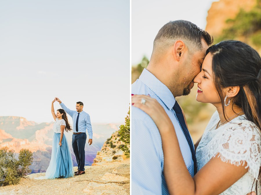 Yesenia and Justin: Northern Arizona Portrait Photography dancing
