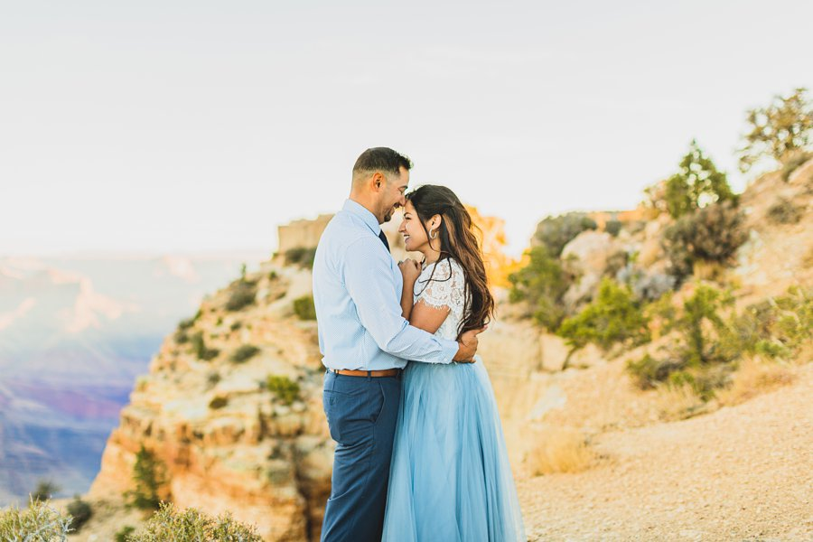 Yesenia and Justin: Northern Arizona Portrait Photography kissing and love