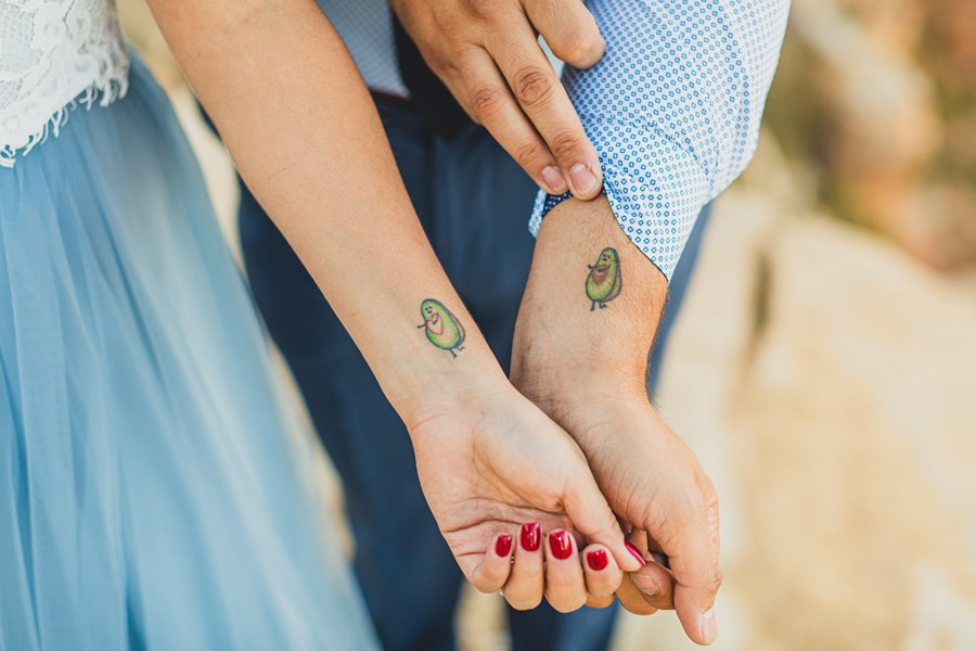 Yesenia and Justin: Northern Arizona Portrait Photography couples tattoo