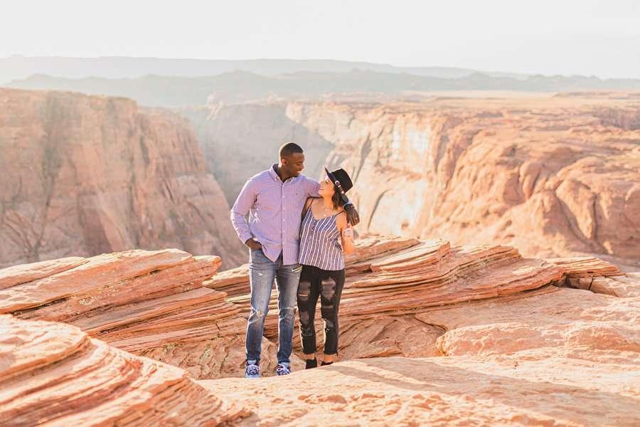 Ashlee and Rodney: Horseshoe Bend Arizona Portraits epic backdrops
