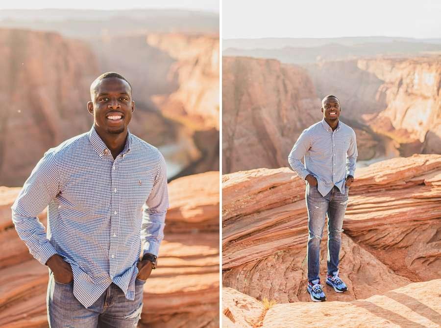 Ashlee and Rodney: Horseshoe Bend Arizona Portraits his portraits
