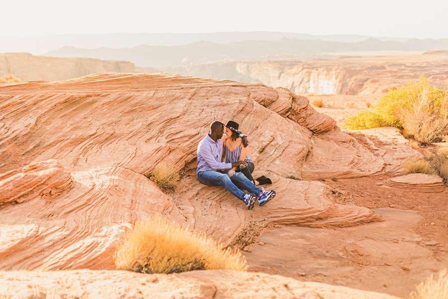 Ashlee and Rodney: Horseshoe Bend Arizona Portraits love and joy