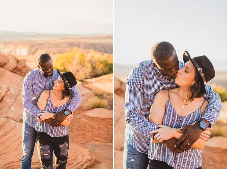 Ashlee and Rodney: Horseshoe Bend Arizona Portraits destination photographers