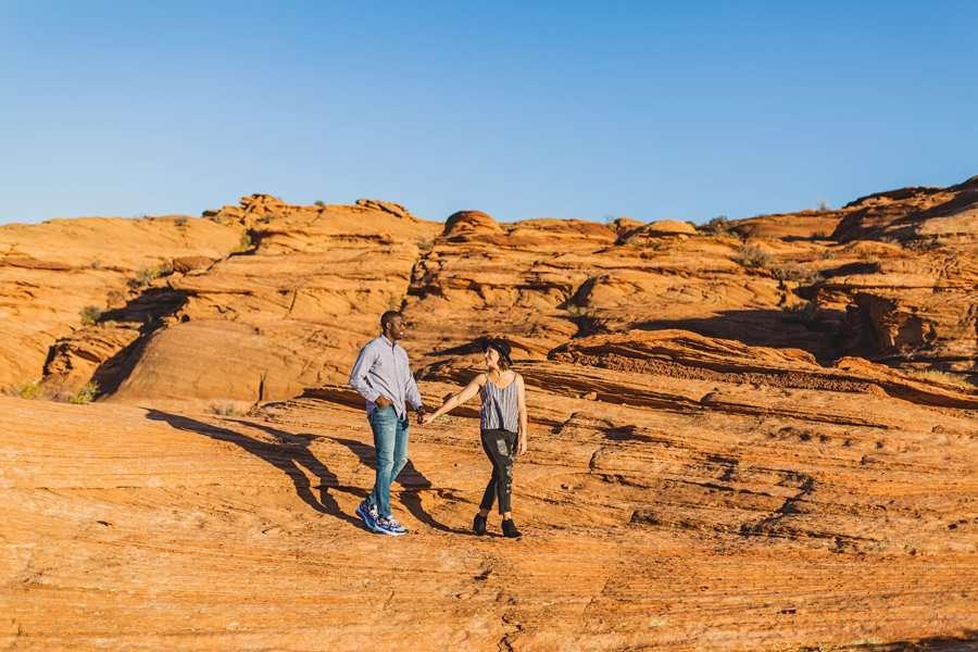 Ashlee and Rodney: Horseshoe Bend Arizona Portraits unique poses