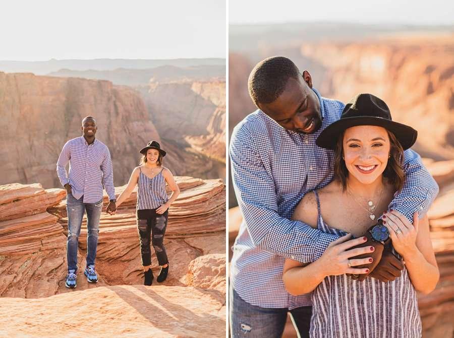 Ashlee and Rodney: Horseshoe Bend Arizona Portraits love and happiness