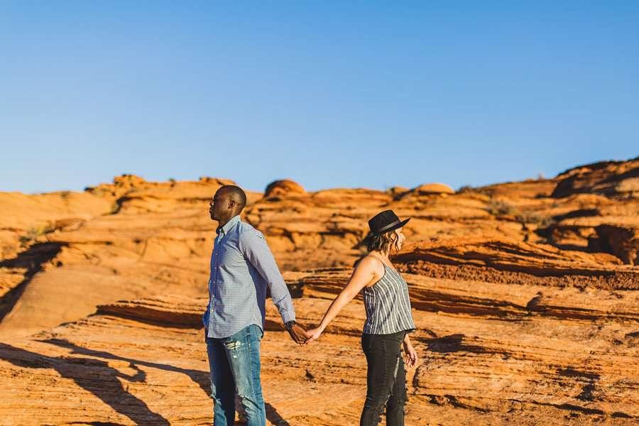 Ashlee and Rodney: Horseshoe Bend Arizona Portraits fun