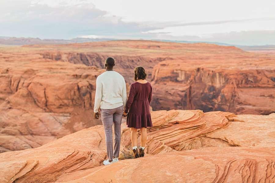 Ashlee and Rodney: AZ Destination Photographers looking away together