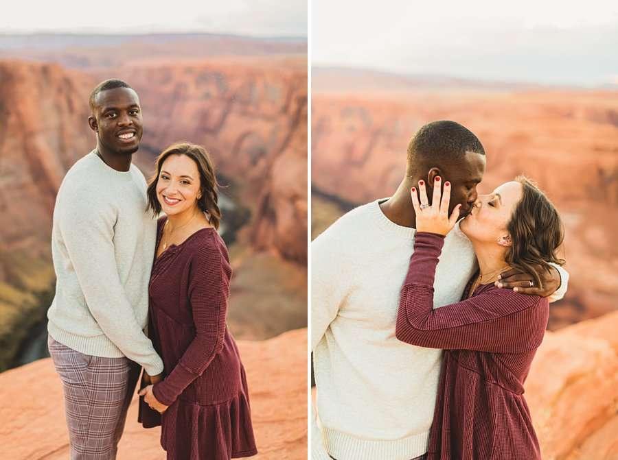 Ashlee and Rodney: AZ Destination Photographers kisses