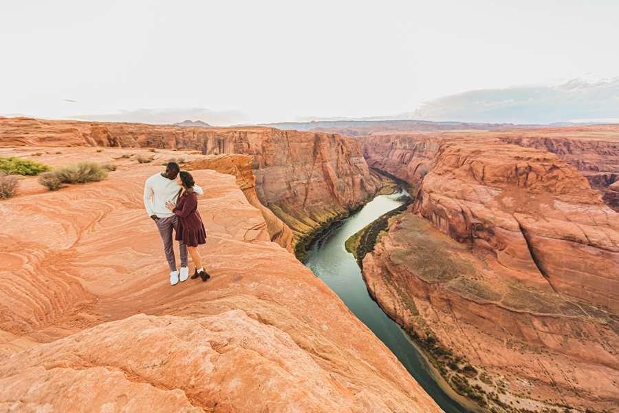 Ashlee and Rodney: AZ Destination Photographers on the edge