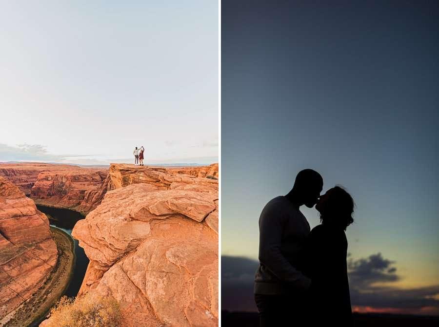 Ashlee and Rodney: AZ Destination Photographers sunset