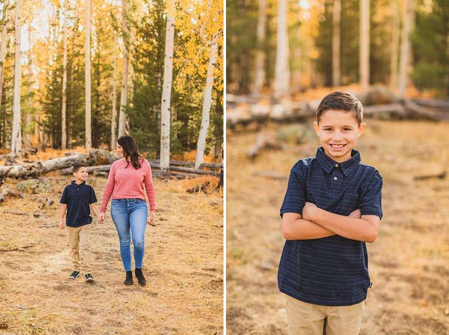 Barrett Family: Aspens Flagstaff Portrait Photographers little man portrait