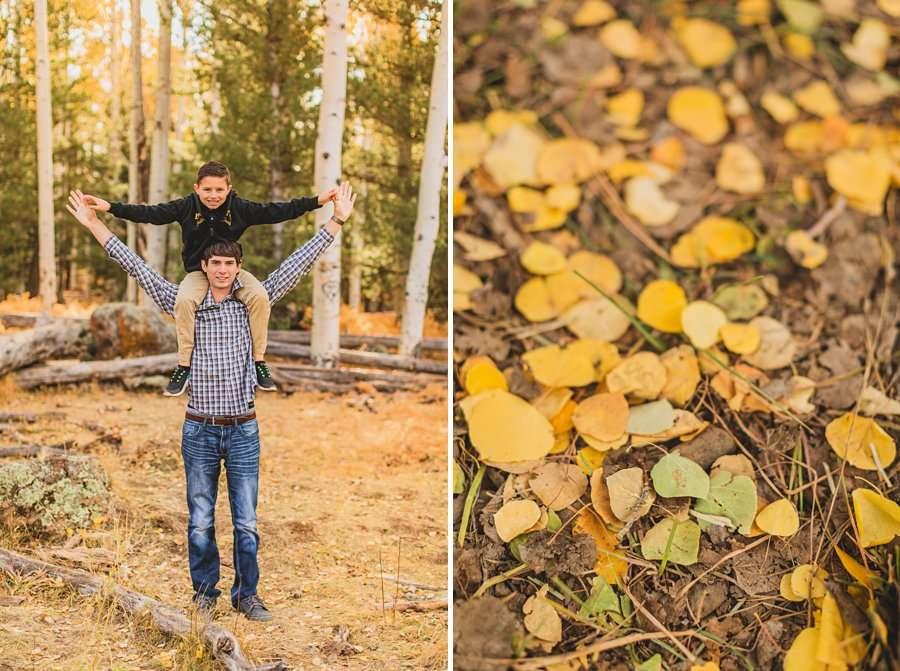 Barrett Family: Aspens Flagstaff Portrait Photographers colorful autumn