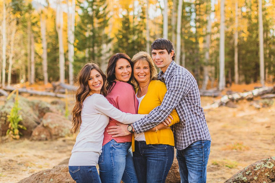 Barrett Family: Aspens Flagstaff Portrait Photographers best poses for family photography