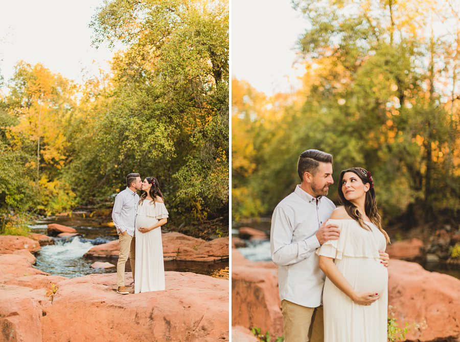 Ciara and Michael: L'Auberge Sedona Maternity Portraits creekside sedona resort