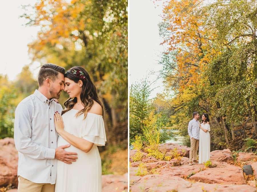Ciara and Michael: L'Auberge Sedona Maternity Portraits autumn colors