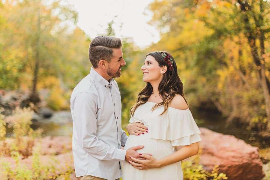 Ciara and Michael: L'Auberge Sedona Maternity Portraits family together