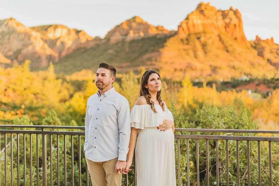 Ciara and Michael: Arizona Resort Portrait Photography desert view
