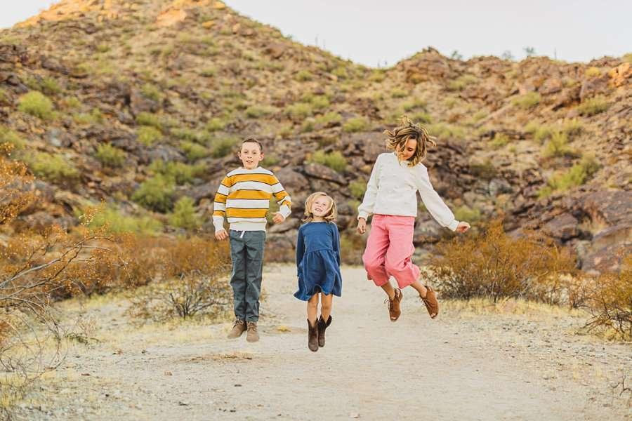 Martin Family: Arizona Family Photographers jumping