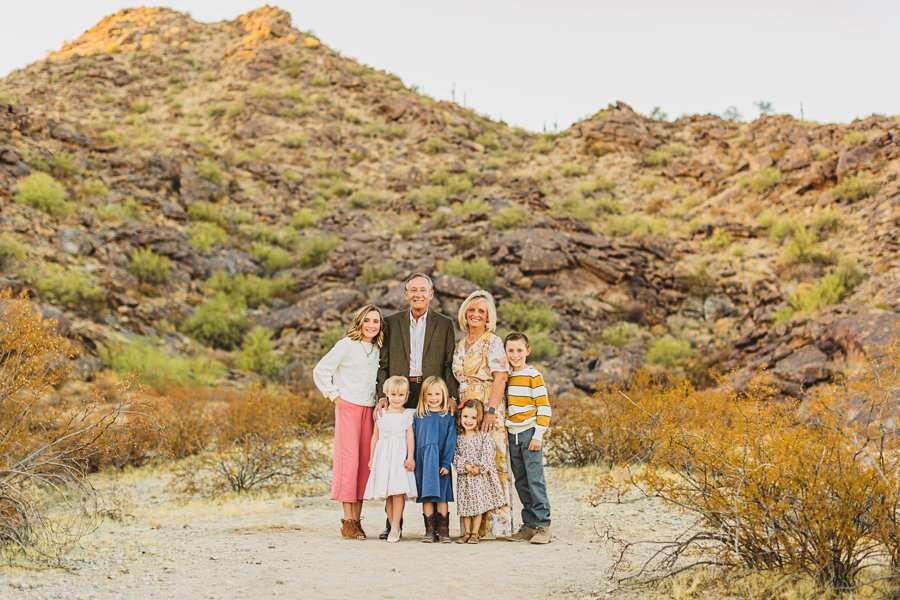 Martin Family: Phoenix Portrait Photography desert