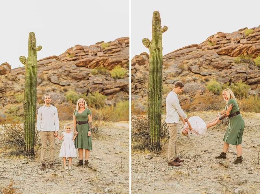 Martin Family: Phoenix Portrait Photography playful poses