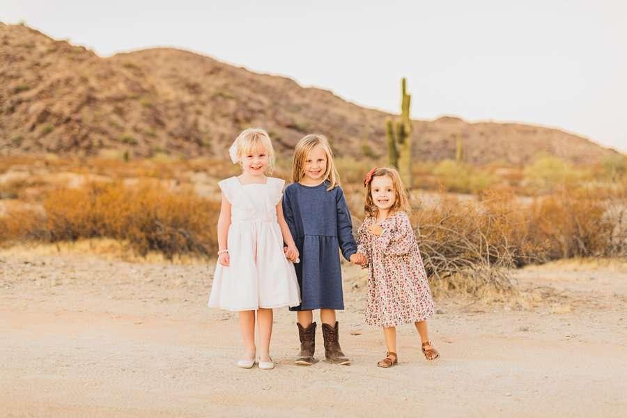 Martin Family: Phoenix Portrait Photography grand daughters