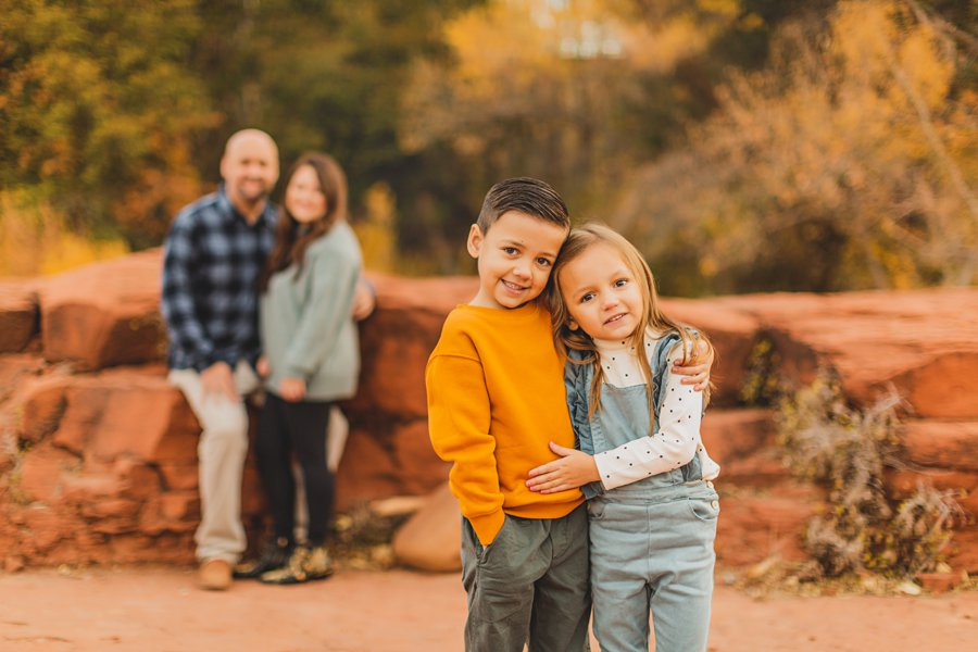 Serrano Family: Sedona Arizona Photography autumn portraits