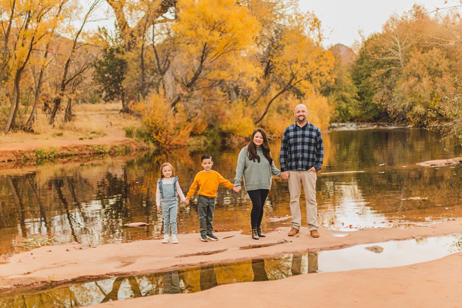 Serrano Family: Sedona Arizona Photography autumn