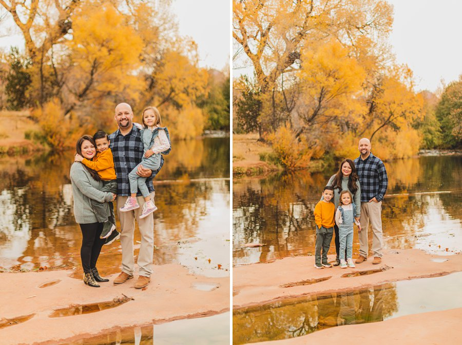 Serrano Family: Sedona Arizona Photography water