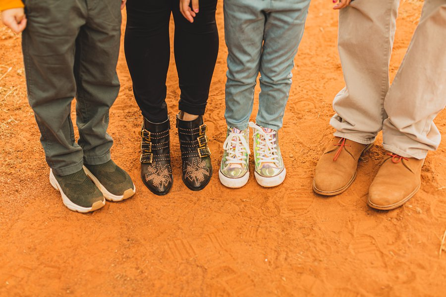 Serrano Family: Sedona Arizona Photography shoes