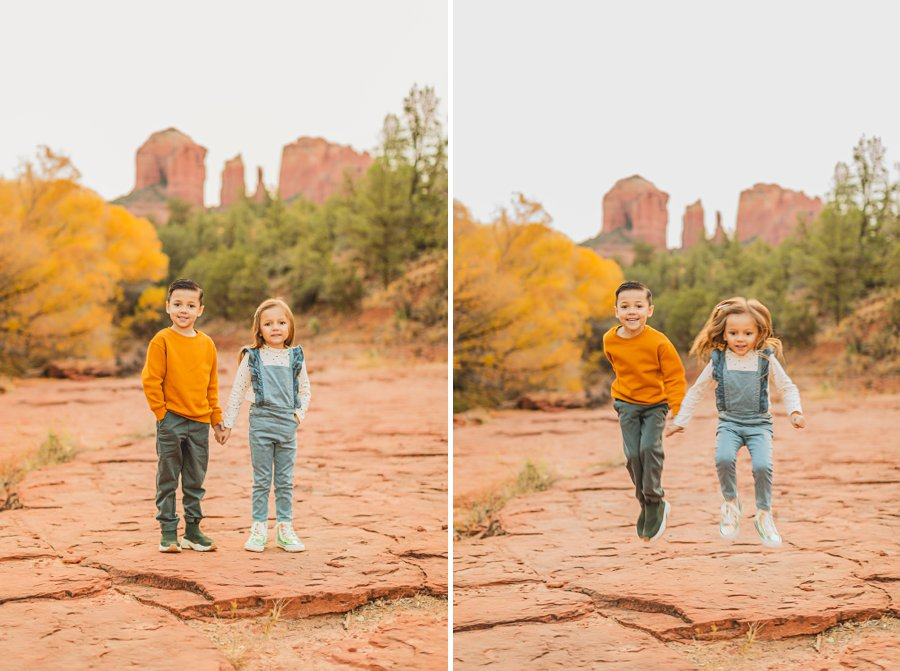 Serrano Family: Red Rock Crossing Portraits little kids