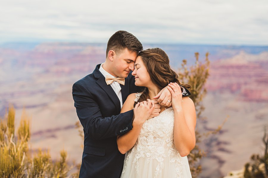 Ashlynn and Jacob: Elopement Photographers Grand Canyon intimacy